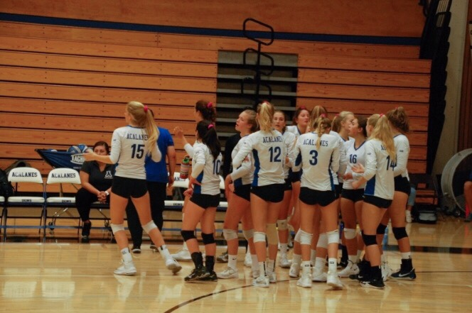 Volleyball Stages Comeback to Defeat San Marin